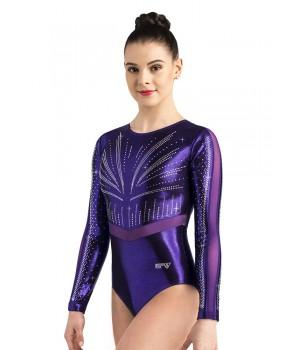 Justaucorps TILLY Violet Ervy gymnastique