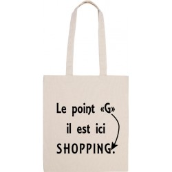 Tote Bag, Le point G il est ici SHOPPING