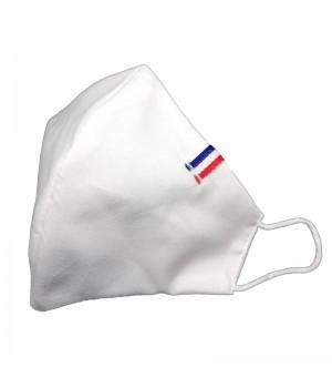 Masque Blanc cocarde bleu...