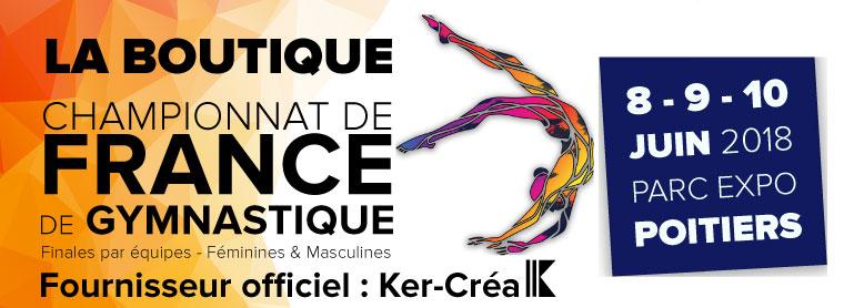 Boutique du championnat de France de gymnastique - POITIERS 2018